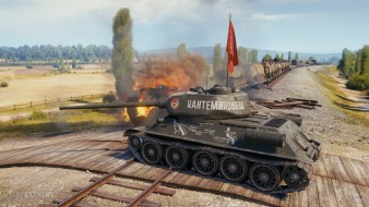 3D-стиль «Кантемировец» на Т-34-85 в World of Tanks
